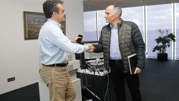 Martín recibe al alcalde de Soba