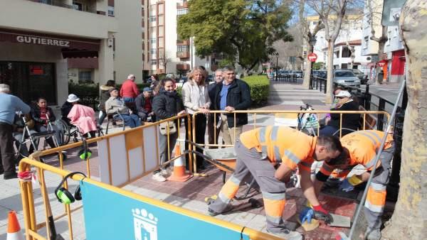 Muñoz alcaldesa marbella miraflores obras actuaciones trabajos operarios
