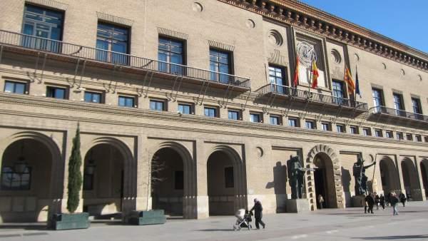 Ayuntamiento de Zaragoza escorzo