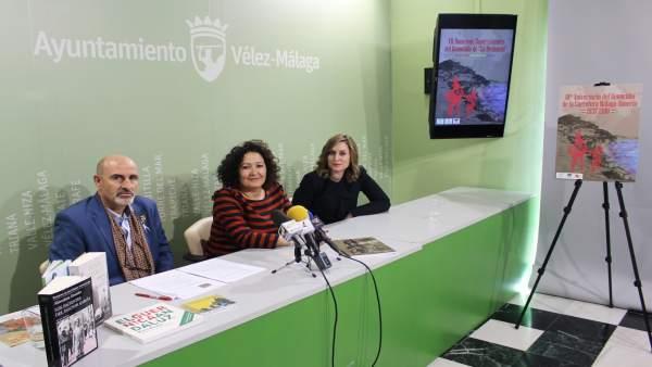 Presentación del homenaje a la desbandá en Vélez Málaga