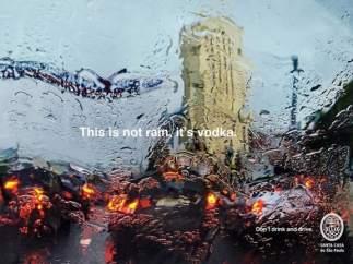 No es lluvia, es vodka