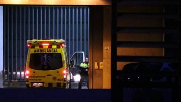 Fèlix Millet ingresando en ambulancia a la prisión de Brians 1