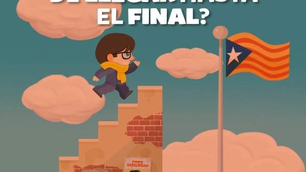 Imagen del videojuego Puigdemont Go!