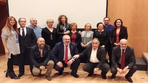 El presidente de la AVT con víctimas del terrorismo en Navarra