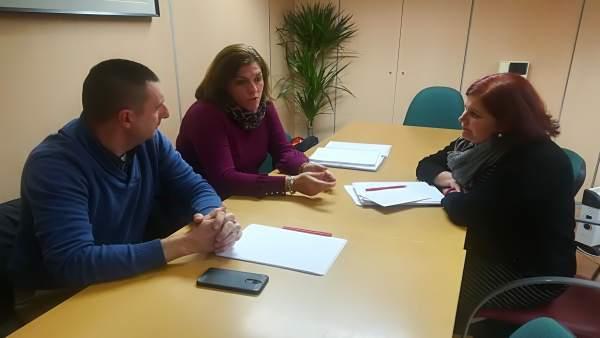 Reunión del PSOE y representantes de CCOO