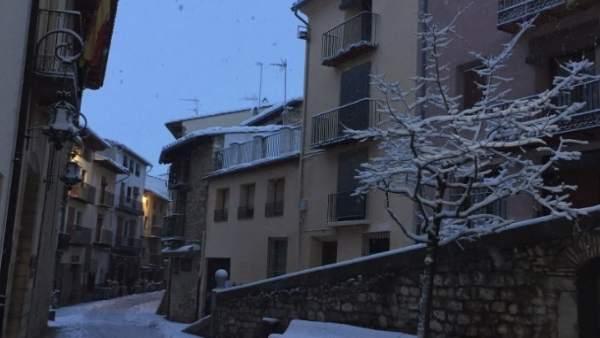 Nieve caída en Morella