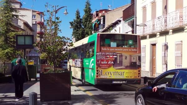 Autobús en Atarfe