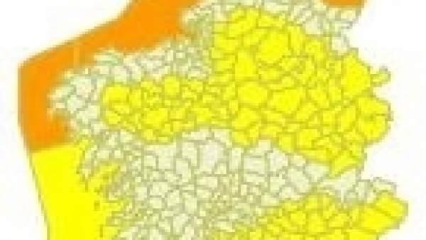 Alerta en Galicia para el miércoles 7 de febrero