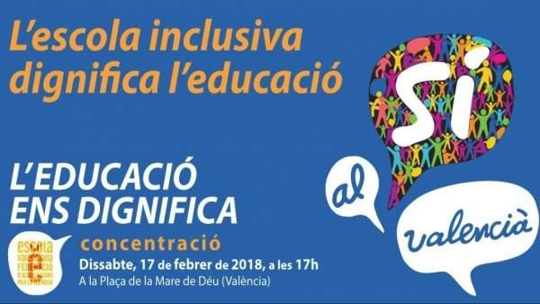 """Escola anima a defendre el valencià i denuncia una """"campanya de desprestigi orquestrada"""" contra la comunitat educativa"""