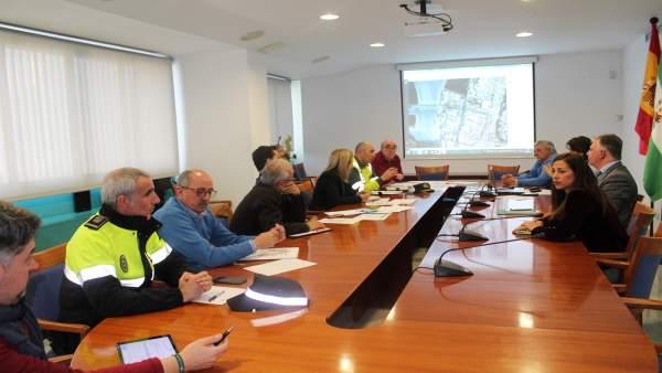 Reunión de coordinación de las obras del puente del Odiel.