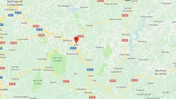 Lalín (Pontevedra) en el mapa