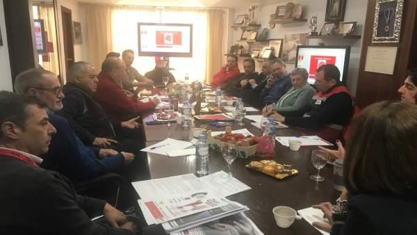 Una delegación de México visita la sede de Cruz Roja Española en Huelva.