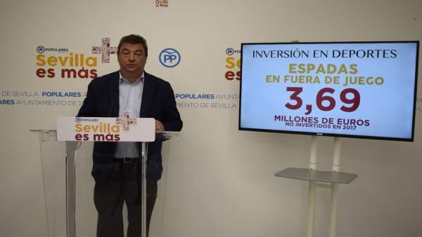 Ignacio Flores en rueda de prensa