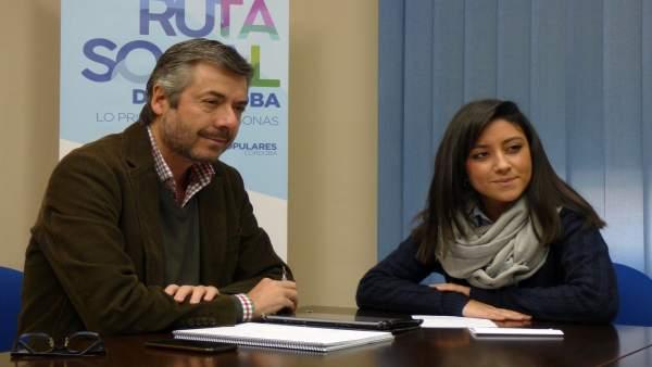 Miguel Ángel Torrico y Cintia Bustos