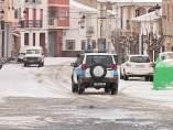 Imagen de una placa de hielo en Castellón. EFE