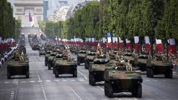 Desfile militar del 14 de Julio en Francia