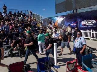 Miles de personas para ver al Falcon Heavy