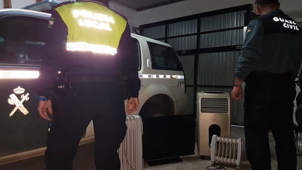 Operación conjunta de Guardia Civil y Policía Local en Bonares