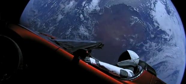 Starman a bordo del Tesla