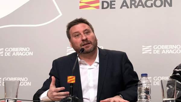José Luis Soro, este miércoles en rueda de prensa en el edificio Pignatelli