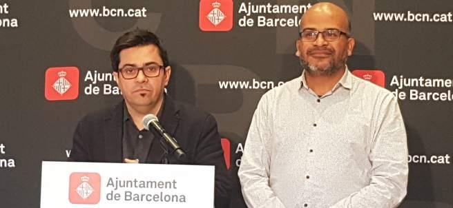 El teniente de alcalde Gerardo Pisarello y el comisionado Miquel Àngel Essomba.
