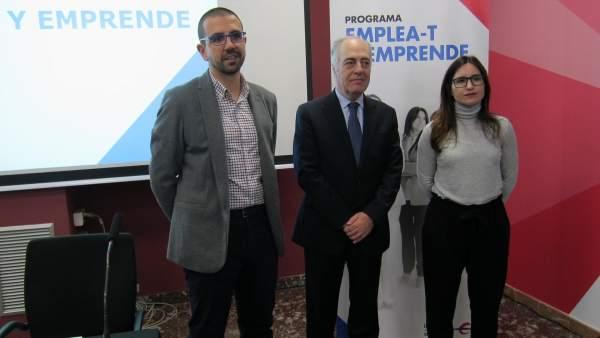 Toño Ruiz, José Luis Rodrigo Escrig y Sara Santolaria