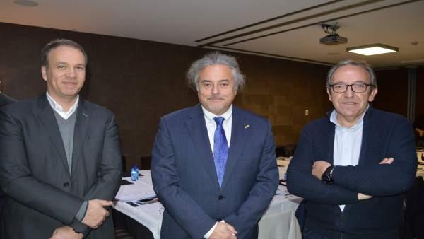 Emili Monsó, Enric Ticó y Xavier Bigordà