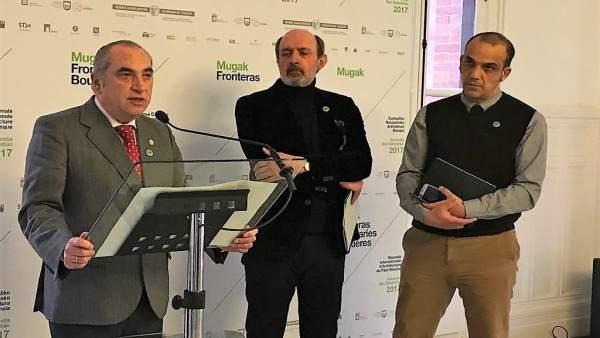 Iñaki Arriola, Pablo García Astrain y Pedro Astigarraga