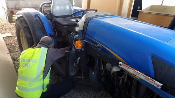 Imagen del tractor recuperado