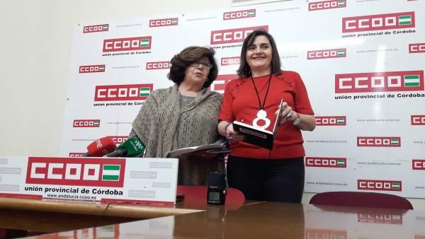 Medina y Borrego en la rueda de prensa