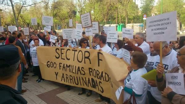 Protesta de afectados del sector F.