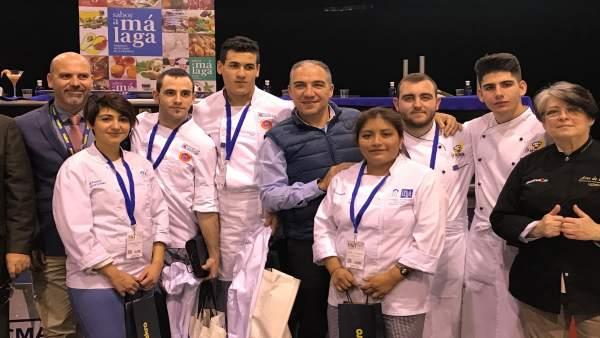 Bendodo en el fallo del concurso joven chef Sabor A Málaga
