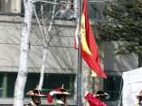 Izado de la bandera de España en la Villa Olímpica de PyeongChang 2018