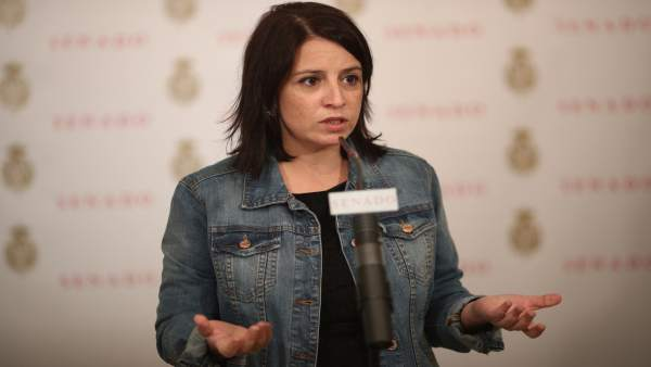 Rueda de prensa de Adriana Lastra en el Senado
