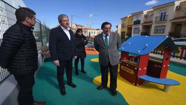 José Entrena y Manuel Martínez visitan nuevas obras