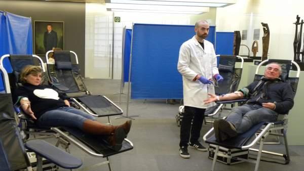 Junteros donan sangre en Gipuzkoa.