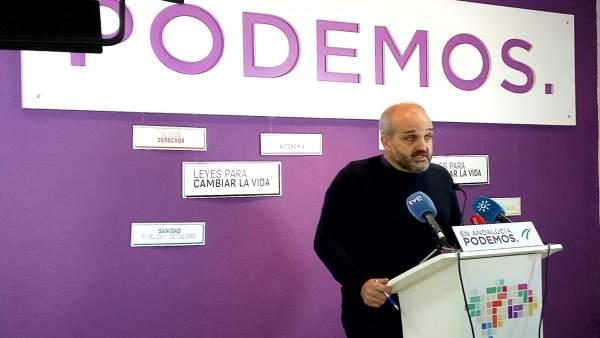 El parlamentario andaluz de Podemos, Jesús de Manuel