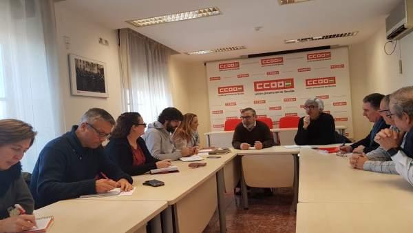 Reunión entre IU y CCOO