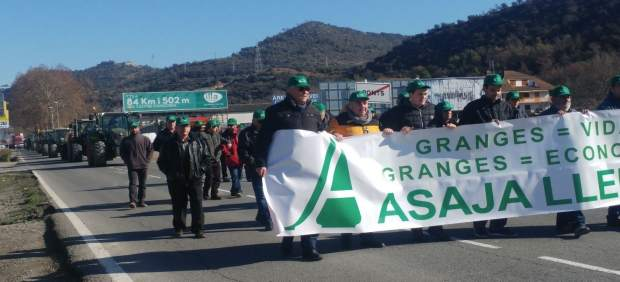 Ganaderos de Asaja en Ponts (Lleida)