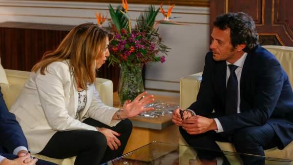 Susana Díaz y José María González 'Kichi' reunidos en San Telmo