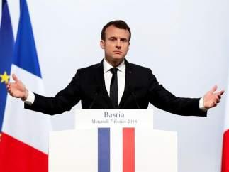 Macron en Córcega