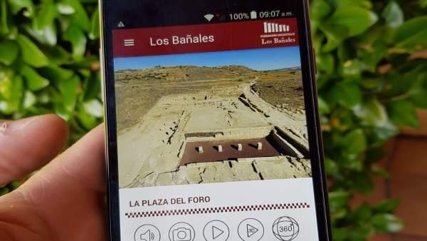 Una nueva aplicación permite disfrutar del yacimiento de Los Bañales