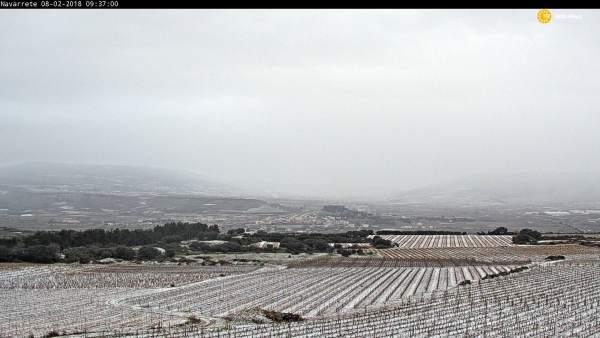Imagen de Navarrete, con nieve