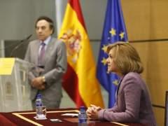 La ministra de Defensa, María Dolores de Cospedal, en el Ministerio