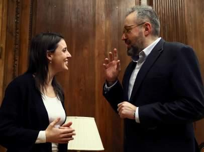 Irene Montero y Juan Carlos Girauta, portavoces en el Congreso de Podemos y Cs respectivamente.