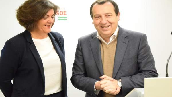 Fuensanta Lima y José Luis Ruiz Espejo en rueda de prensa