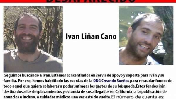 Cartel de búsqueda del joven de Maracena desaparecido en California