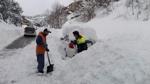Temporal de nieve en Catalunya