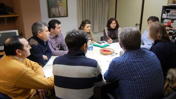 Reunión del PSCyL con sindicatos de prisiones.