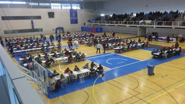 Más de 300 personas han participado en las pruebas de ajedrez en el Moisés Ruiz.